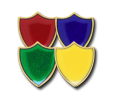 Small Enamelled Shield Badges