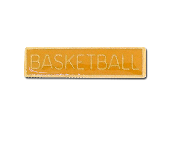 Basketball Small Bar Badge