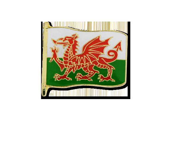 Wales Small Flag Badge