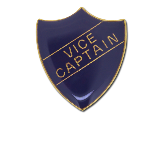 Vice Captain Enamelled Shield Badge