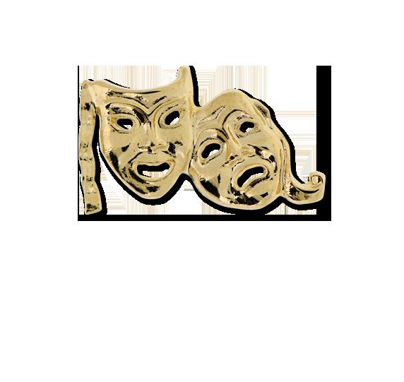 Drama Masks Unique Badge