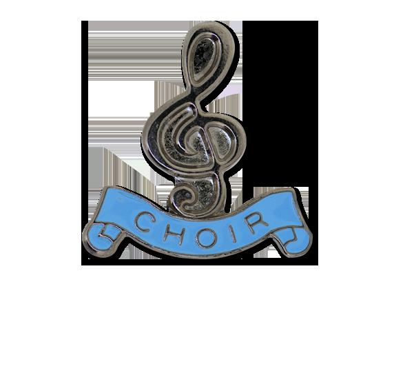 Choir - Silver Clef Badge