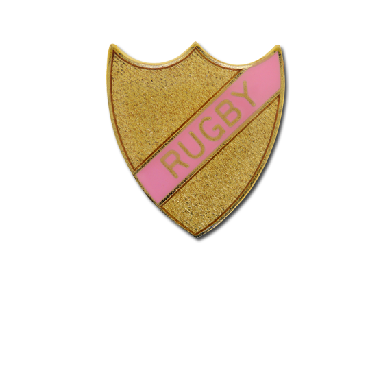 Rugby Small Enamelled Stripe Shield Badge