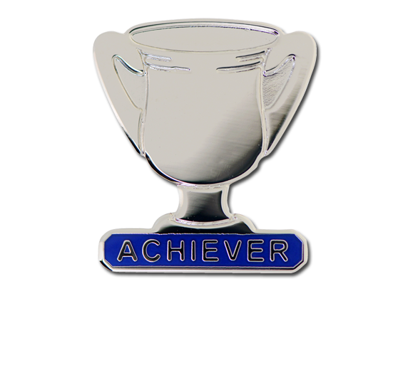 Achiever Trophies - Silver Trophy Badge