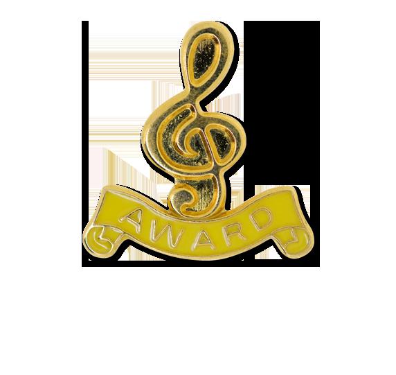 Award - Gold Clef Badge