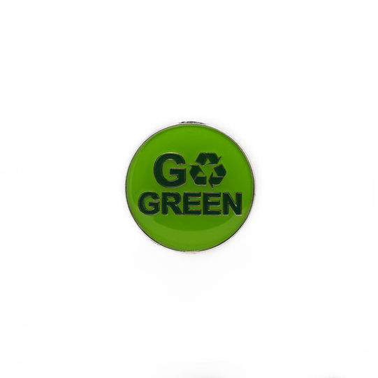 Go Green Recycle Enamelled Badge
