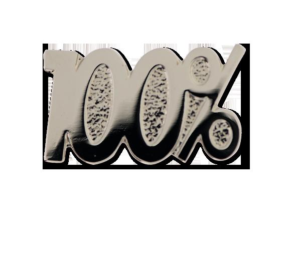 100% Unique Badge