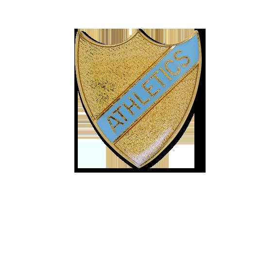 Athletics Small Enamelled Stripe Shield Badge
