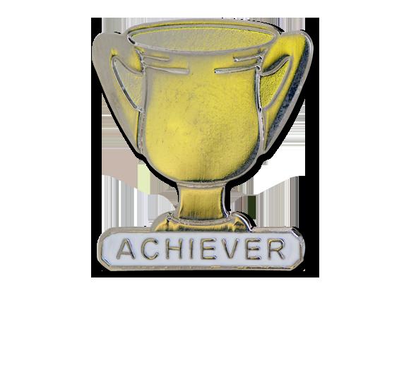 Achiever Trophies - Silver Trophy Badge