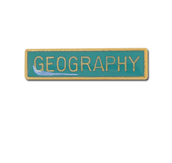 Geography Small Bar Badge