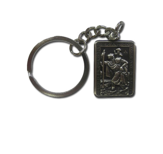 St Christopher Rectangle Keyring