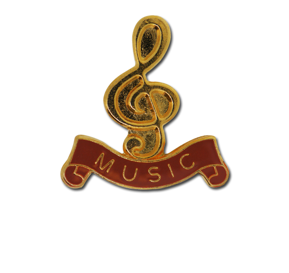 Music - Gold Clef Badge