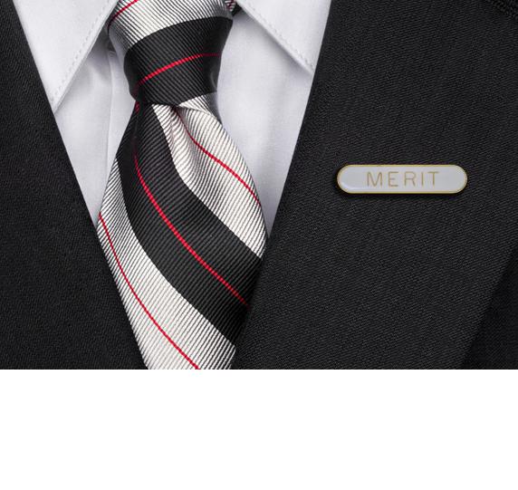 Merit Rounded Edge Bar Badge