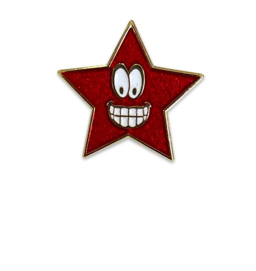 Smiley Star Badge