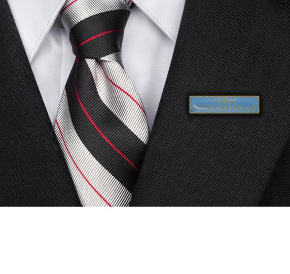 Form Representative Squared Edge Bar Badge