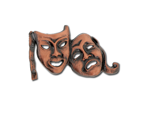 Drama Masks Unique Badge