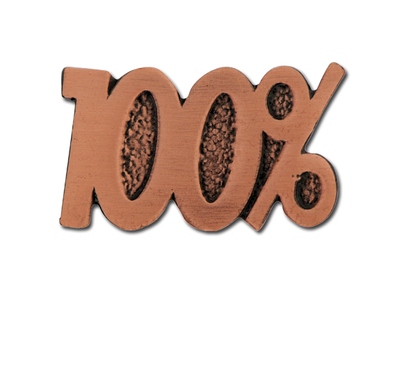 100% Unique Badge