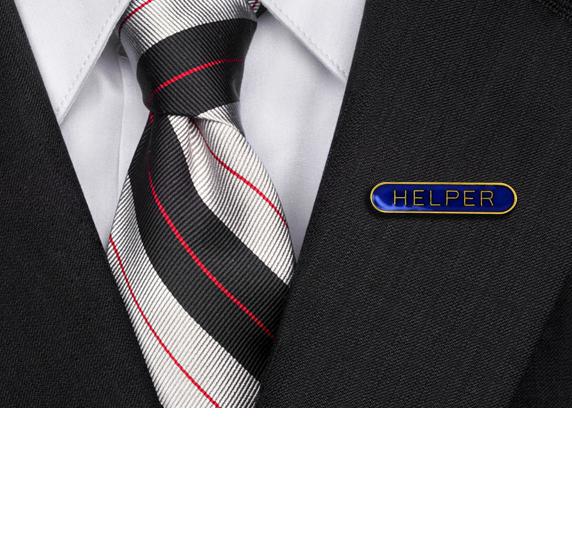 Helper Rounded Edge Bar Badge
