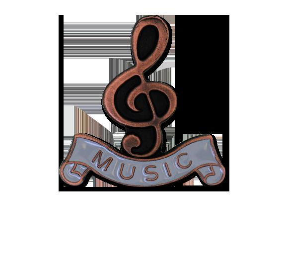 Music - Bronze Clef Badge