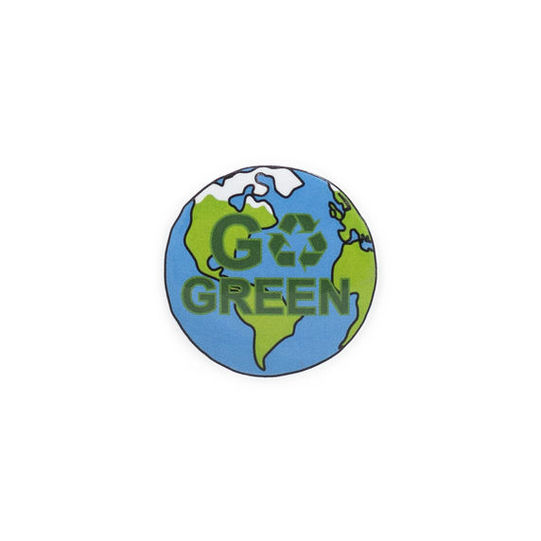 Go Green Recycle Plastic Button Badge