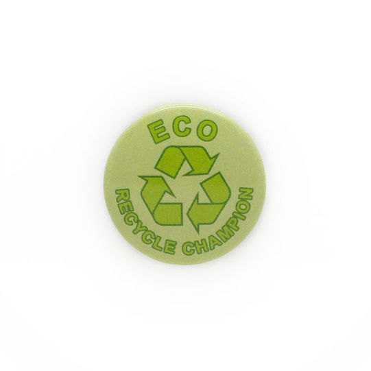 Eco Champion Recycling Plastic Button Badge