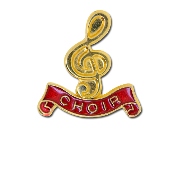 Choir -  Gold Clef Badge