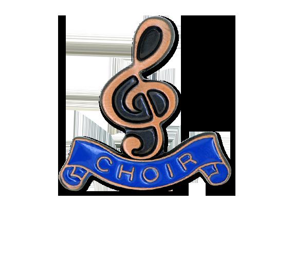 Choir - Bronze Clef Badge