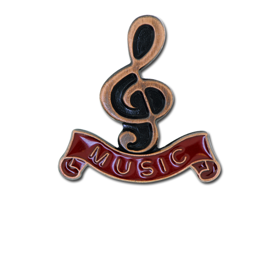 Music - Bronze Clef Badge