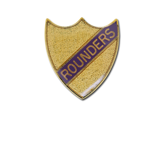 Rounders Small Enamelled Stripe Shield Badge