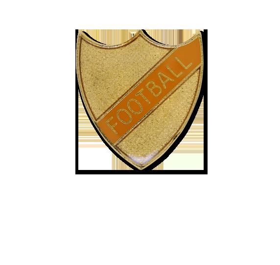 Football Small Enamelled Stripe Shield Badge