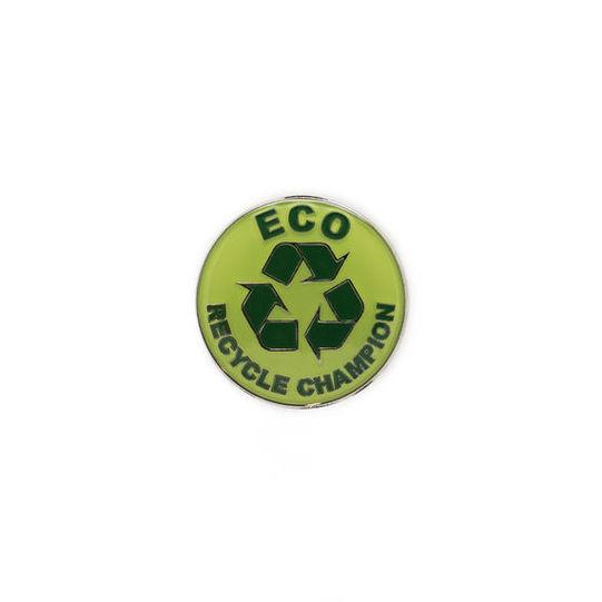 Enamelled Eco Champion Recycle Badge