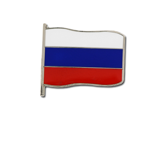 Russian Small Flag Badge