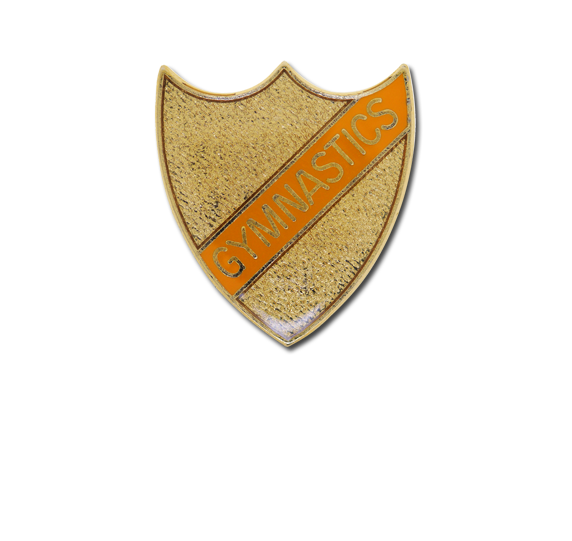 Gymnastics Small Enamelled Stripe Shield Badge