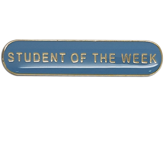 Student of the Week Rounded Bar Badge