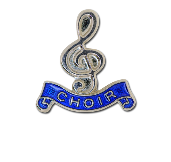 Choir - Silver Clef Badge