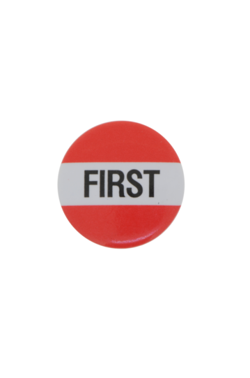 First Plastic Button Badge