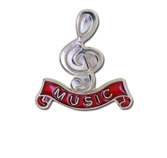 Music - Silver Clef Badge