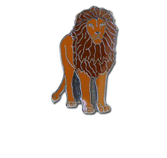 Lion Fun Badge