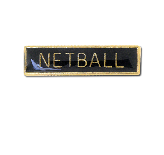 Netball Small Bar Badge