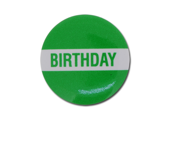Birthday Plastic Button Badge