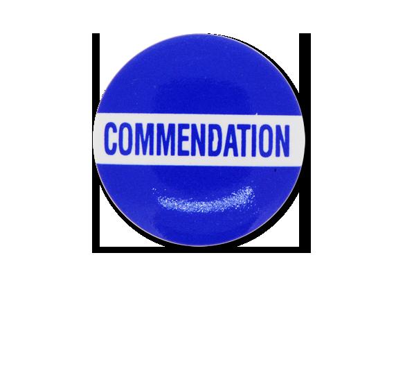 Commendation Plastic Button Badge