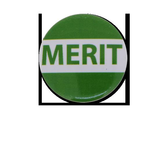 Merit Plastic Button Badge