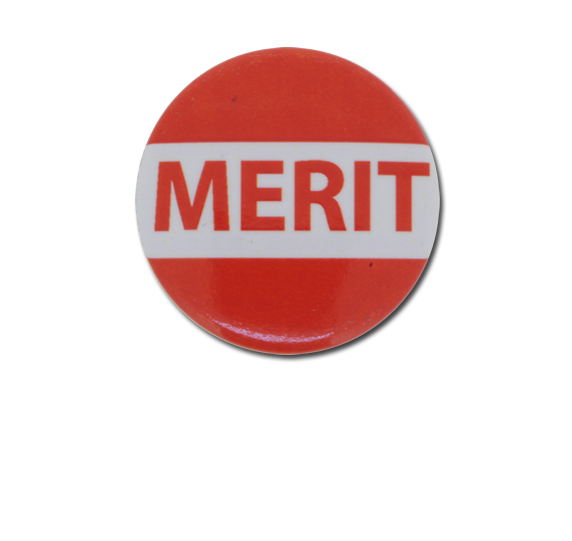 Merit Plastic Button Badge