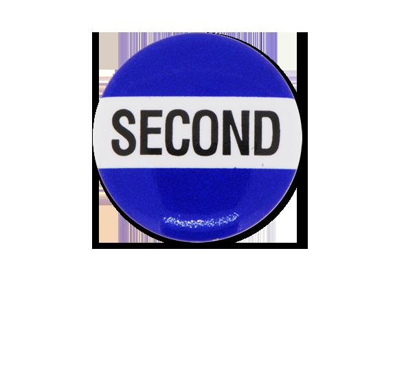 Second Plastic Button Badge