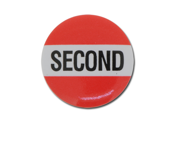 Second Plastic Button Badge