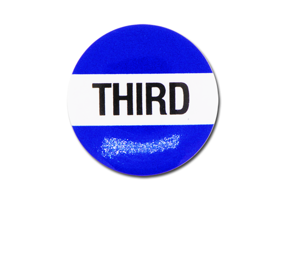 Third Plastic Button Badge