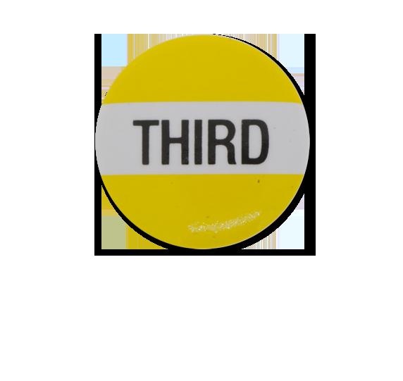 Third Plastic Button Badge
