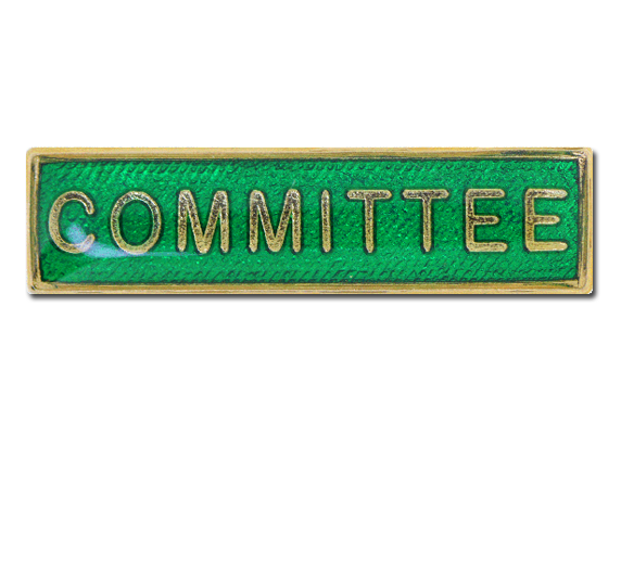 Committee Squared Edge Bar Badge