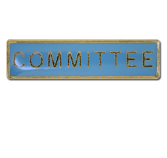Committee Squared Edge Bar Badge