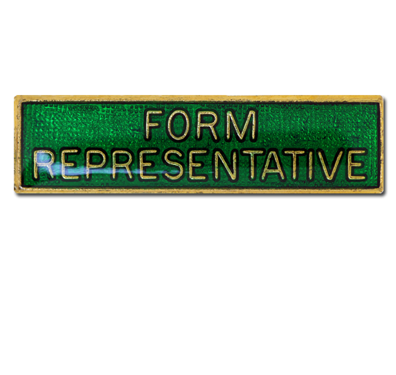Form Representative Squared Edge Bar Badge